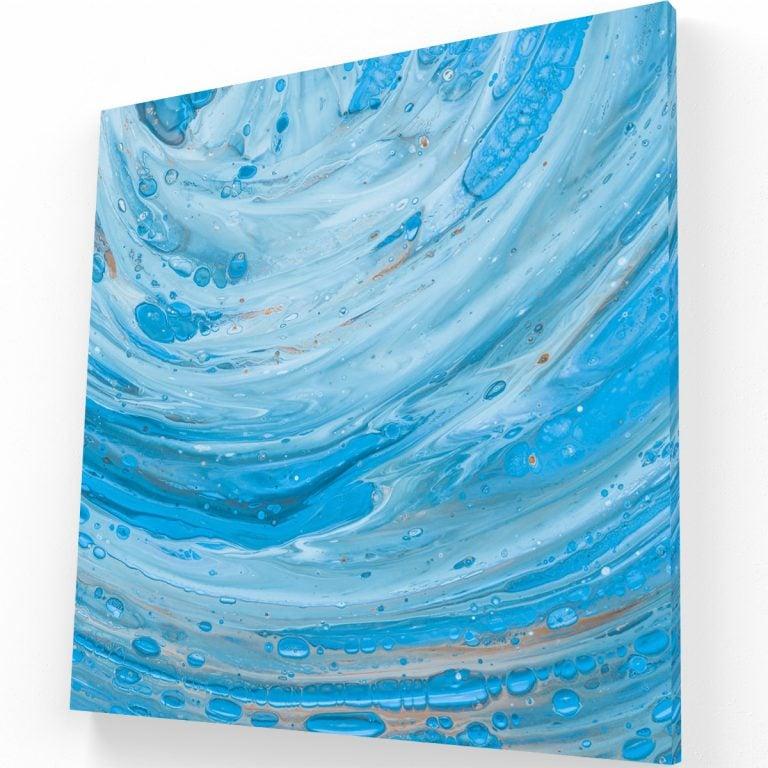 Azul Libre Canvas C Krea Canvas - Cuadros Decorativos Para Salas