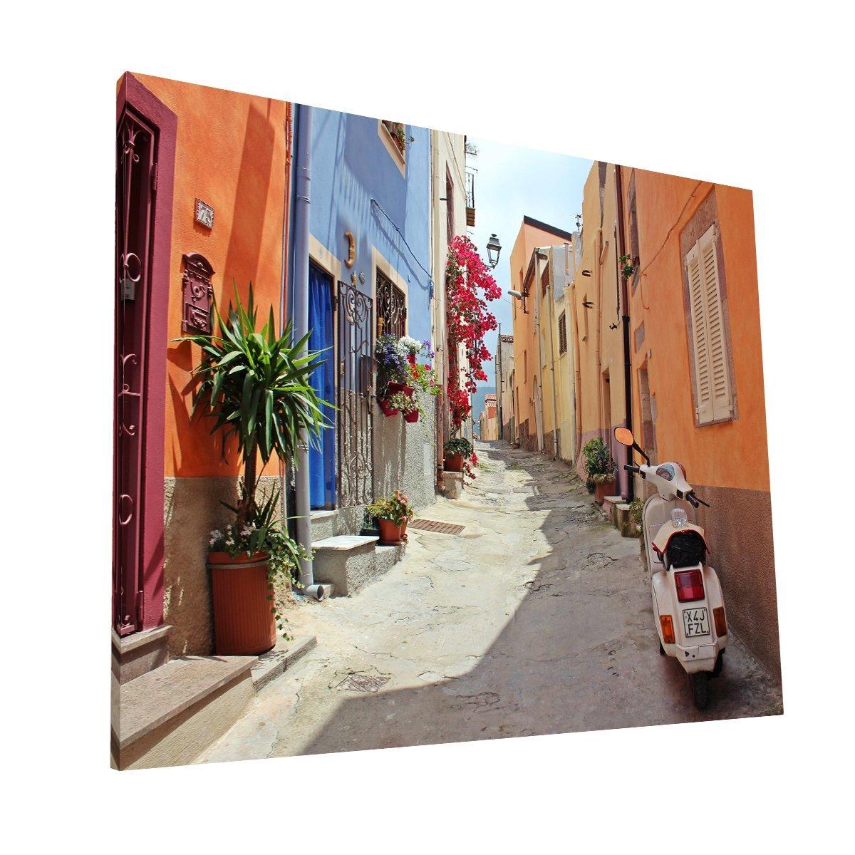 Calles de Italia Canvas H Krea Canvas - Cuadros Decorativos Para Salas