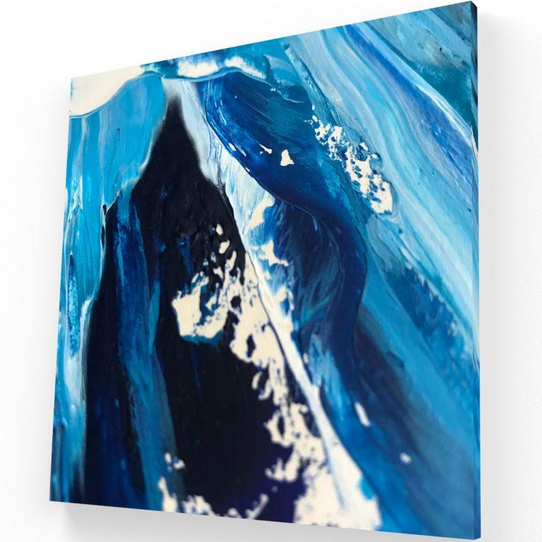 El Poder del Azul Canvas C Krea Canvas - Cuadros Decorativos Para Salas