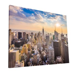NYC Sunset Canvas 1 Krea Canvas - Cuadros Decorativos Para Salas