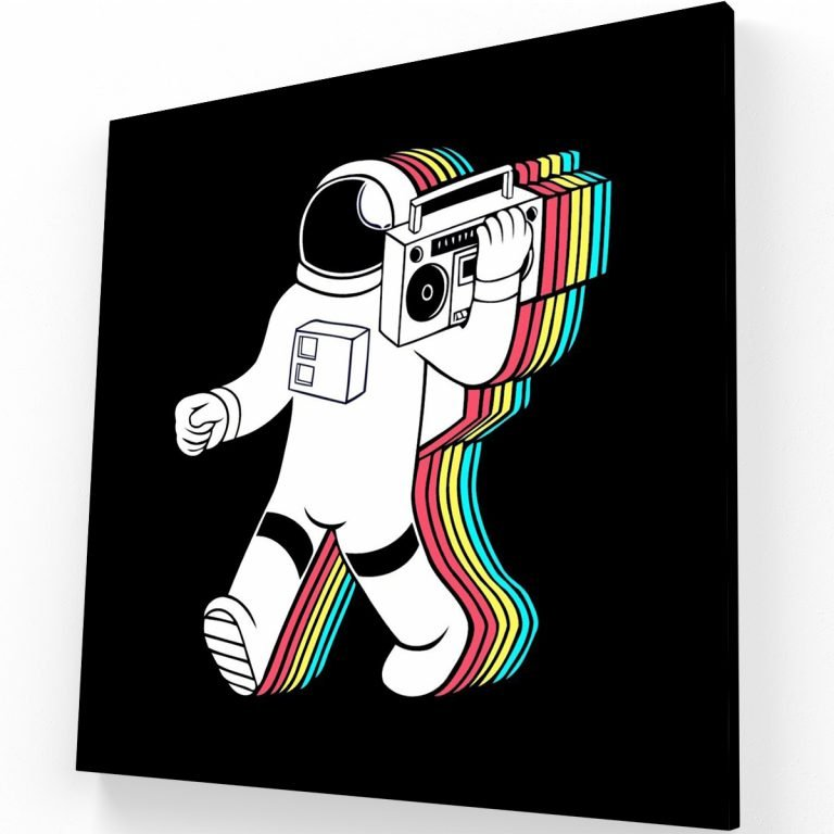 Astronauta Canvas Krea Canvas - Cuadros Decorativos Para Salas