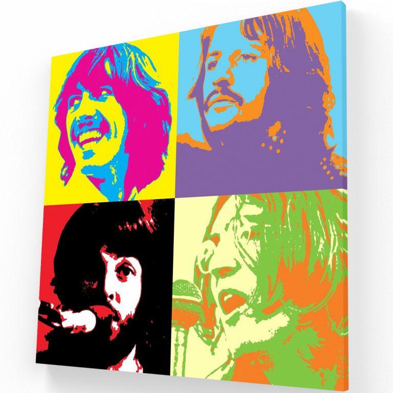 Beatlemania Canvas C Krea Canvas - Cuadros Decorativos Para Salas