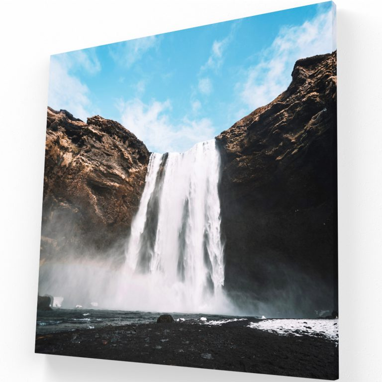 Cascada de Islandia Canvas Krea Canvas - Cuadros Decorativos Para Salas