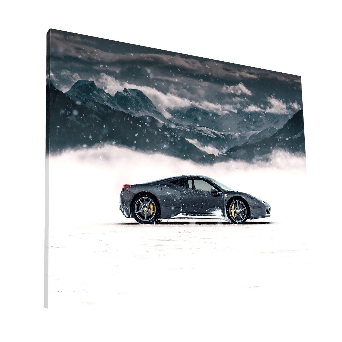 Ferrari en la nieve Canvas H Krea Canvas - Cuadros Decorativos Para Salas
