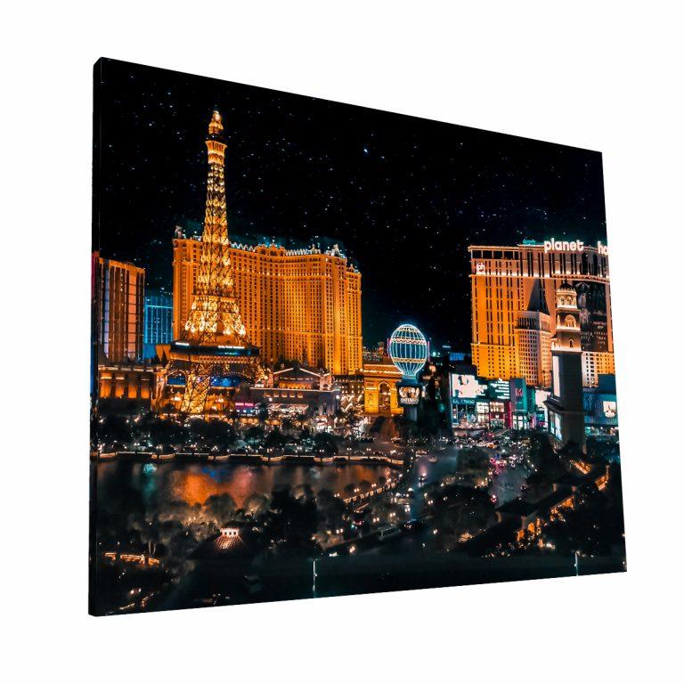 Las Vegas de noche Canvas H Krea Canvas - Cuadros Decorativos Para Salas