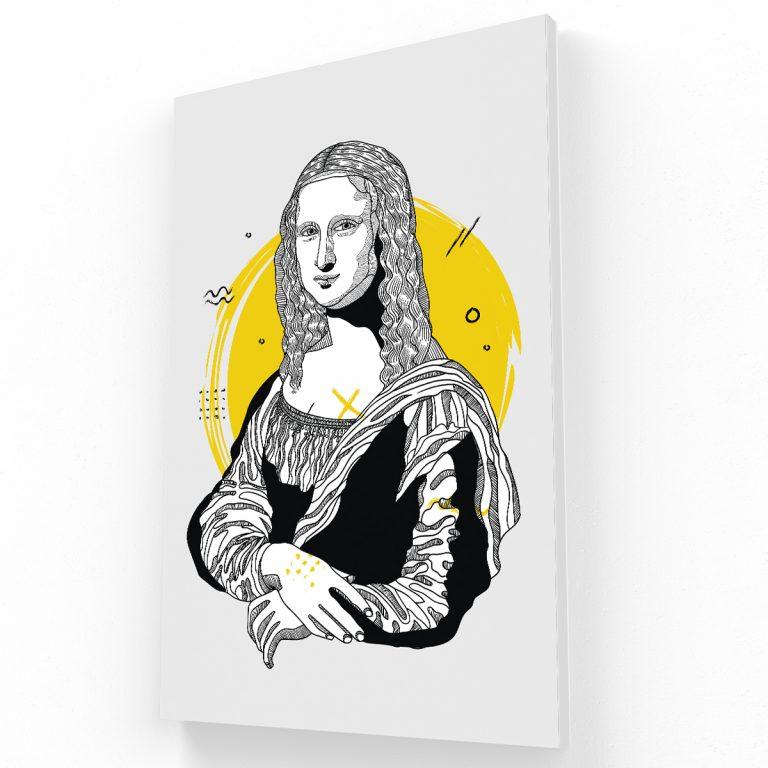 Mona Lisa Canvas V Krea Canvas - Cuadros Decorativos Para Salas