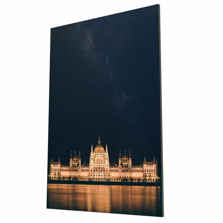 Parlamento de Noche Budapest MDF Krea Canvas - Cuadros Decorativos Para Salas