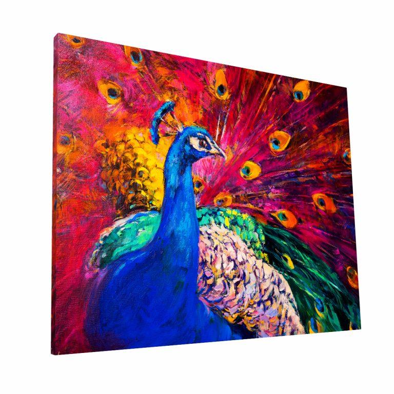 Pavo Real Multicolor Canvas H Krea Canvas - Cuadros Decorativos Para Salas