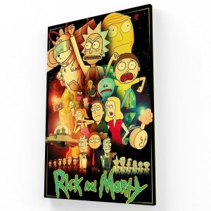 Rick Morty Canvas V Krea Canvas - Cuadros Decorativos Para Salas