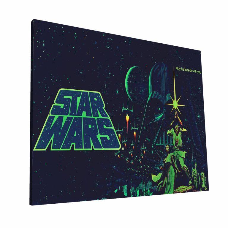 Starwars Vintage Poster Canvas H Krea Canvas - Cuadros Decorativos Para Salas