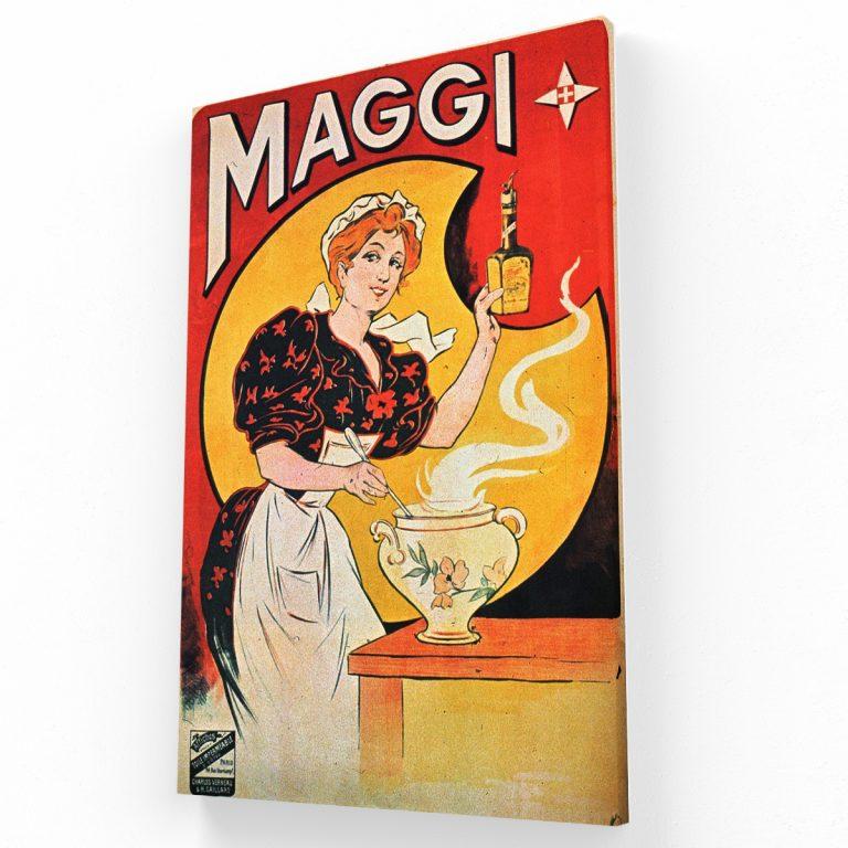 Vintage Maggi Poster Canvas Krea Canvas - Cuadros Decorativos Para Salas