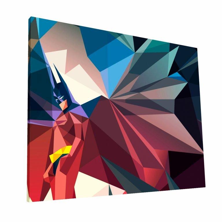 Batman Cubismo Canvas Krea Canvas - Cuadros Decorativos Para Salas