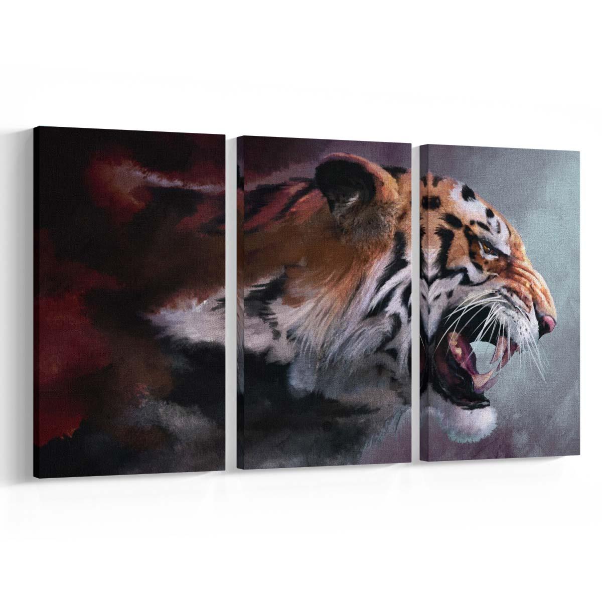 Tigre Trio Set Canvas Krea Canvas - Cuadros Decorativos Para Salas